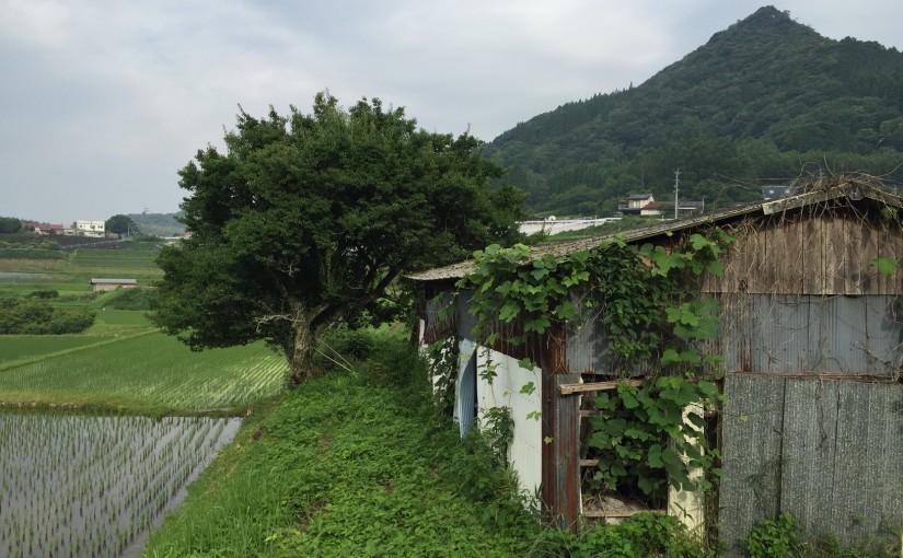 山谷と田園